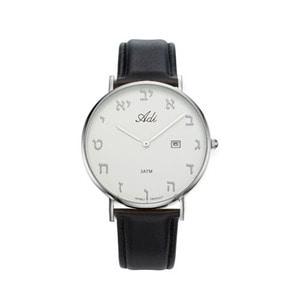 Adi 이스라엘 시계 - 알레프 (흰-검-실버)